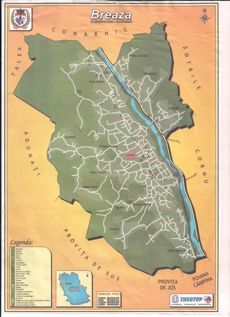 Harta Turistica 001 Centrul De Informare Si Promovare Turistică