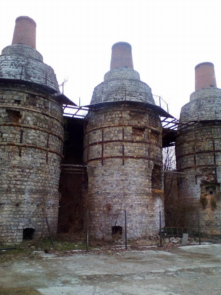 Cuptoarele fostei fabrici de var hidraulic